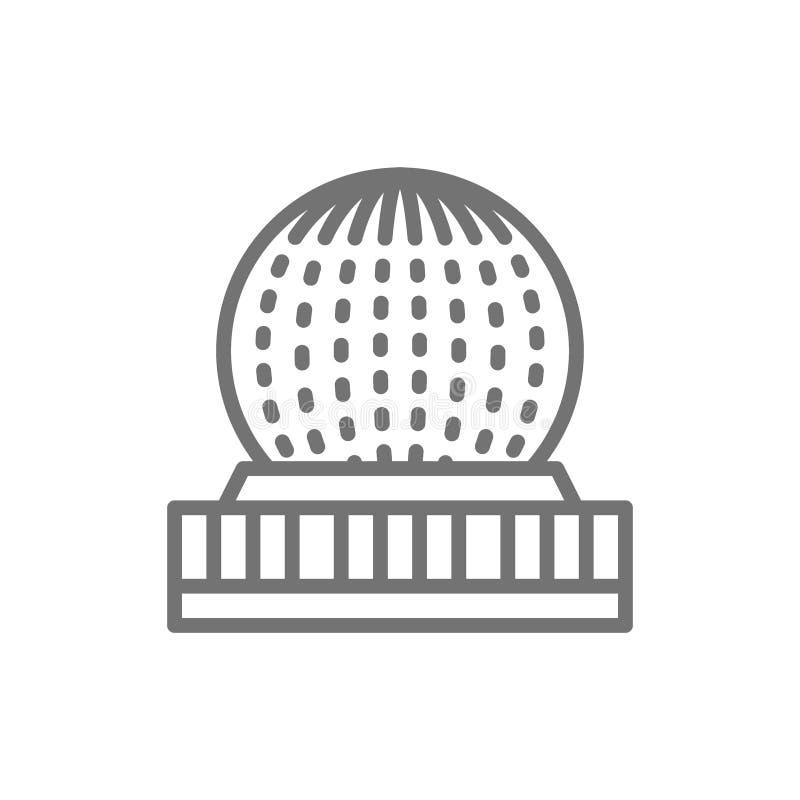 Mundo da ciência, linha ícone de Vancôver, Canadá ilustração royalty free