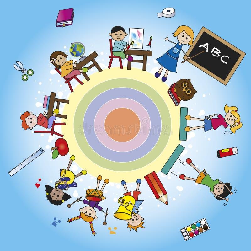 Mundo da escola ilustração royalty free