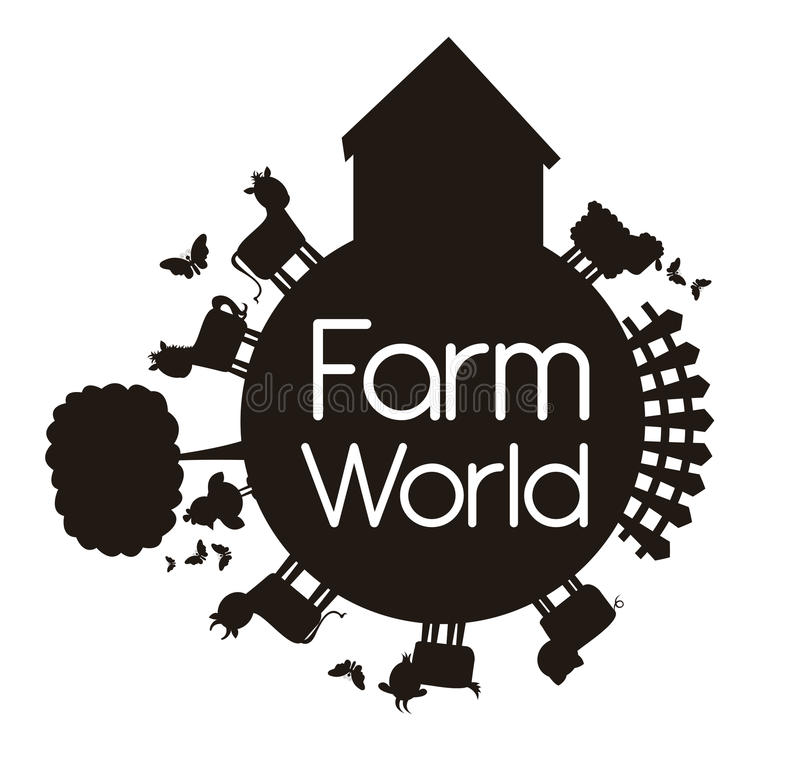 Mundo da exploração agrícola ilustração do vetor