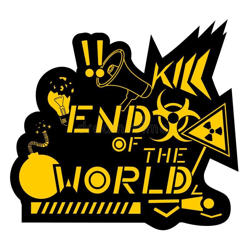 Mundo da extremidade ilustração royalty free