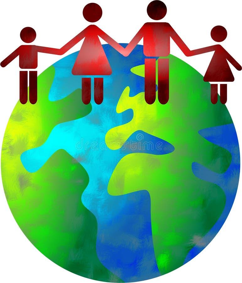 Mundo da família ilustração stock