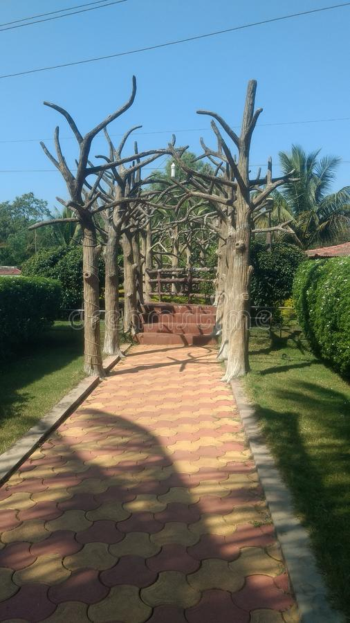 Mundo da fantasia kudal bonito do Maharashtra do jardim indiano imagens de stock
