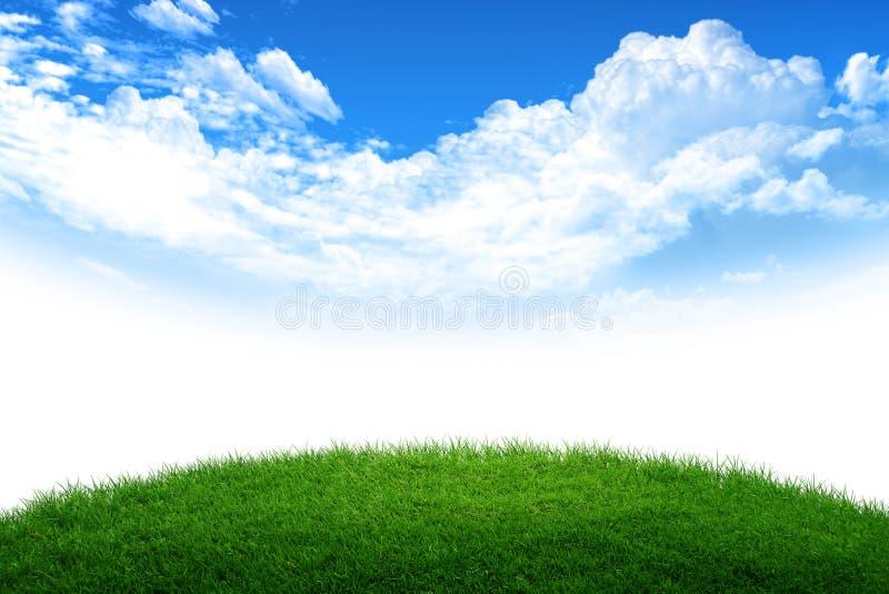 Mundo da grama e do céu foto de stock royalty free