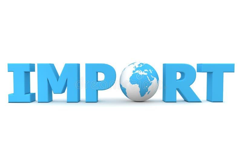 Mundo da importação ilustração royalty free