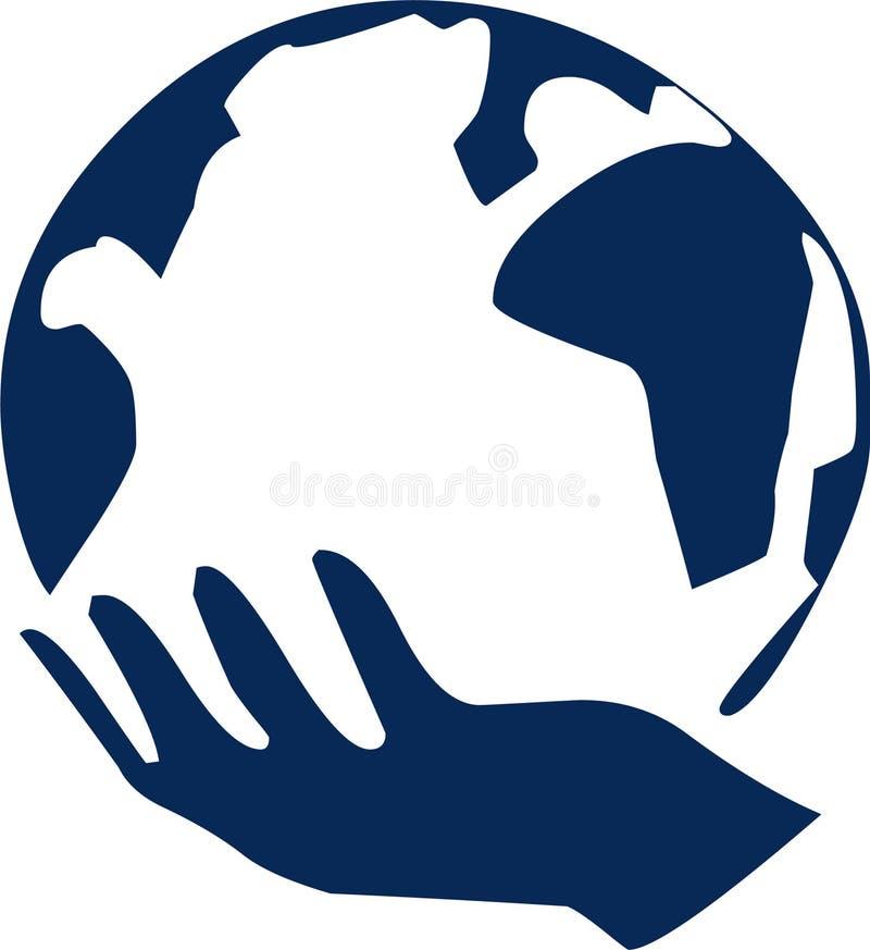 Mundo da mão imagens de stock royalty free