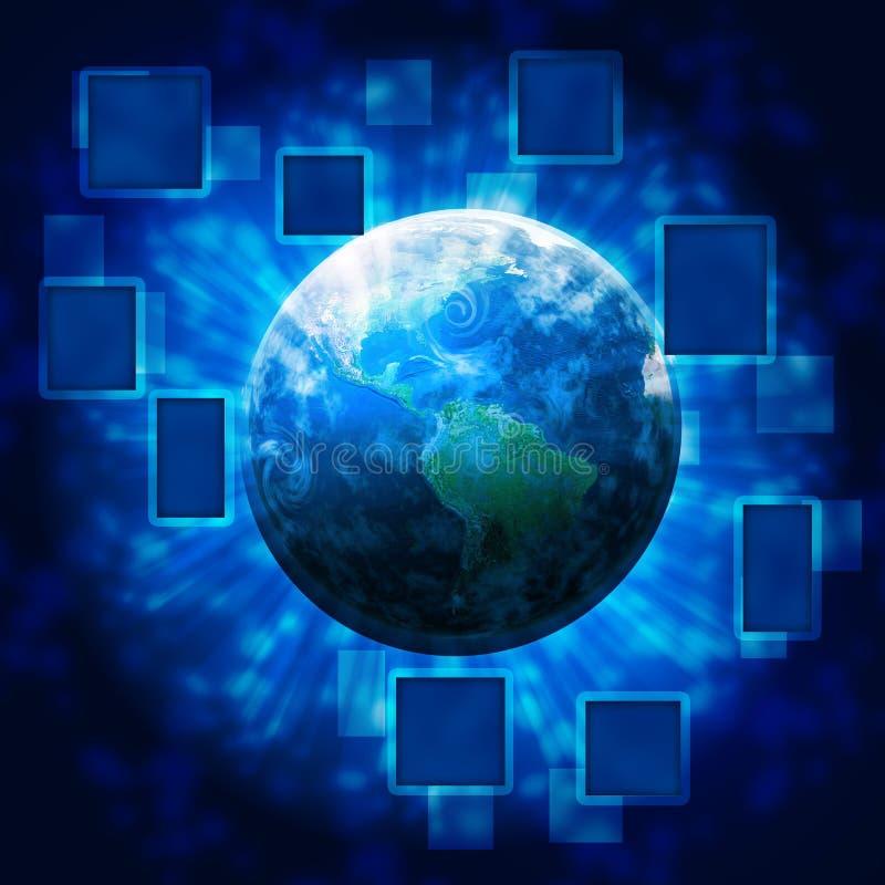 Mundo da tecnologia ilustração stock