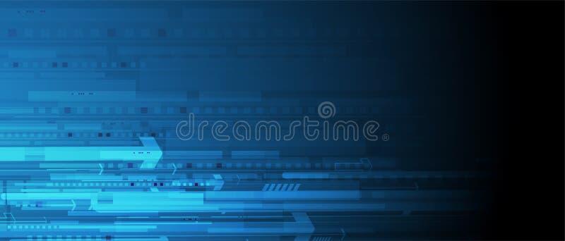 Mundo da tecnologia de Digitas Conceito virtual do negócio Backg do vetor ilustração stock