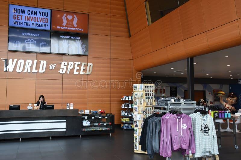 Mundo da velocidade EUA em Wilsonville, Oregon imagens de stock