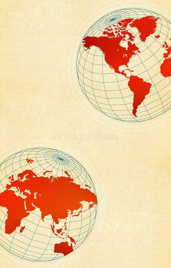 Mundo de alta tecnología stock de ilustración
