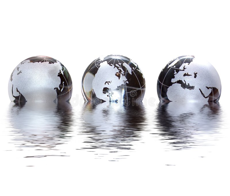 Mundo de cristal stock de ilustración