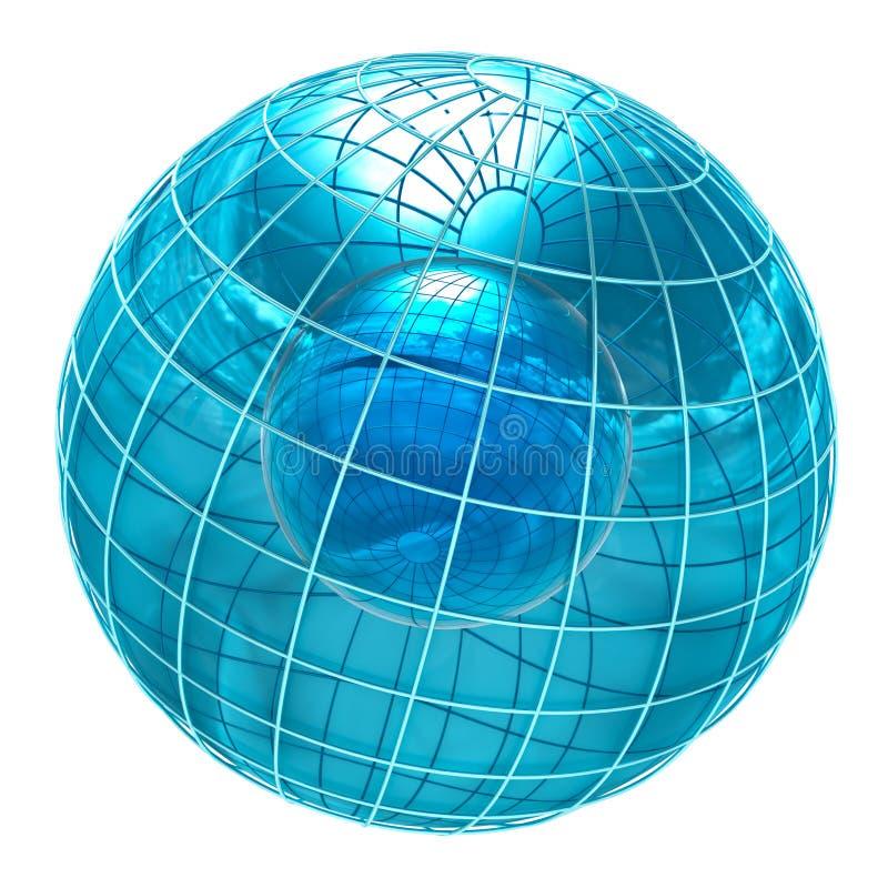 Mundo de cristal abstracto ilustración del vector