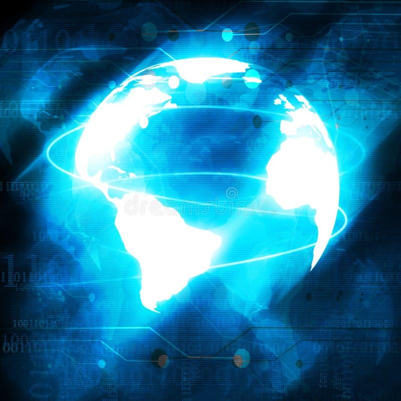 Mundo de Digitaces ilustración del vector