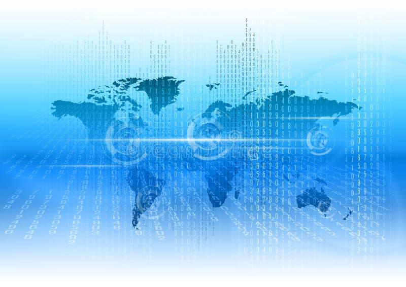 Mundo de Digitall como o fundo abstrato do negócio ilustração stock
