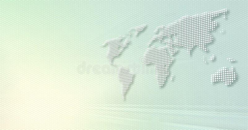 Mundo de Digitas ilustração stock