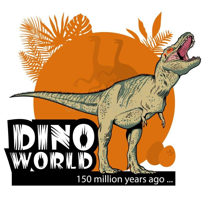 Mundo de Dino ilustração royalty free