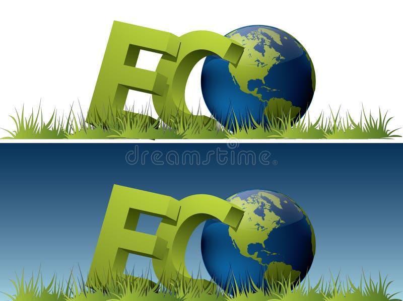 Mundo de Eco ilustração stock