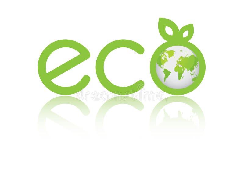 Mundo de Eco ilustração royalty free