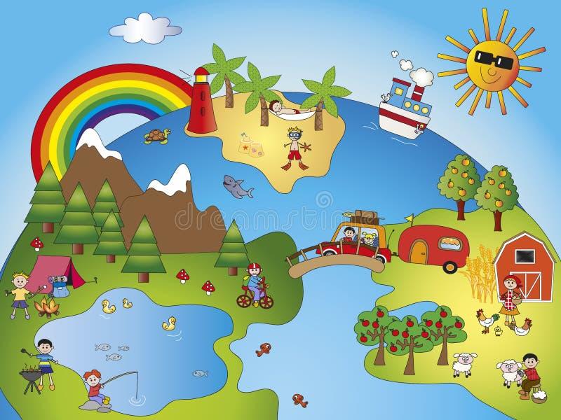 Mundo de fantasia ilustração stock