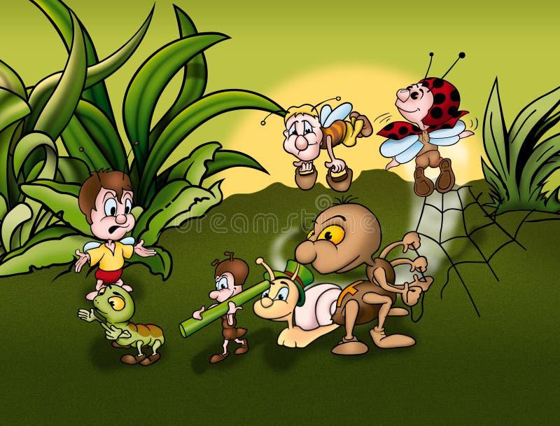 Mundo de insecto ilustración del vector