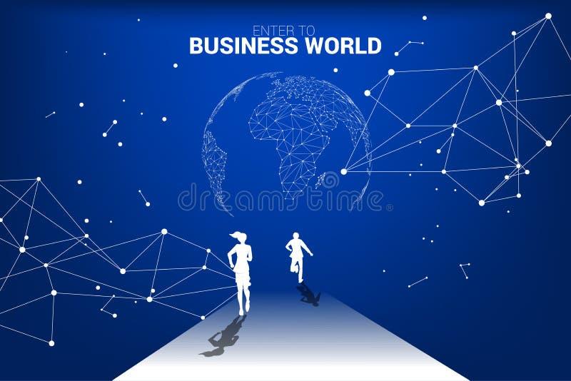 Mundo de la competencia del negocio ilustración del vector