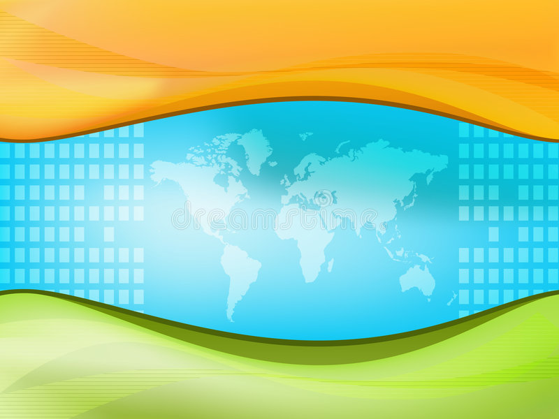 Mundo de la correspondencia stock de ilustración