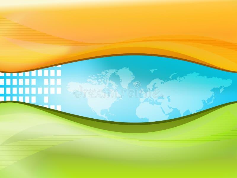 Mundo de la correspondencia ilustración del vector