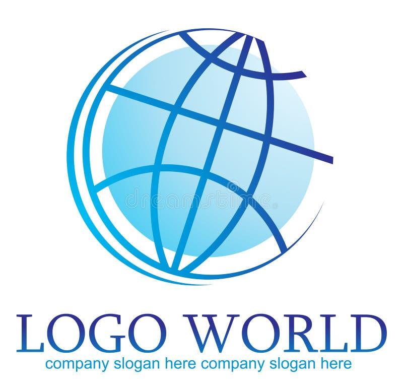 Mundo de la insignia stock de ilustración