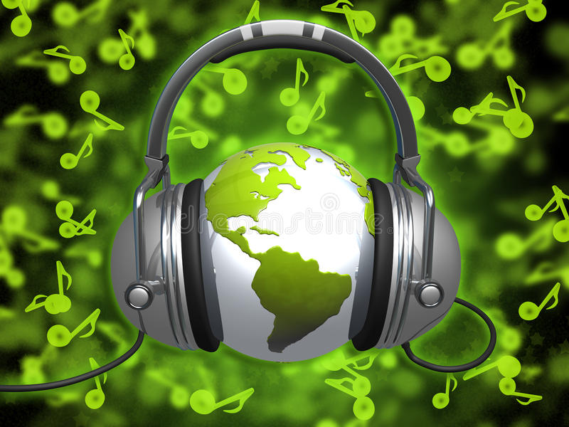 Mundo de la música stock de ilustración