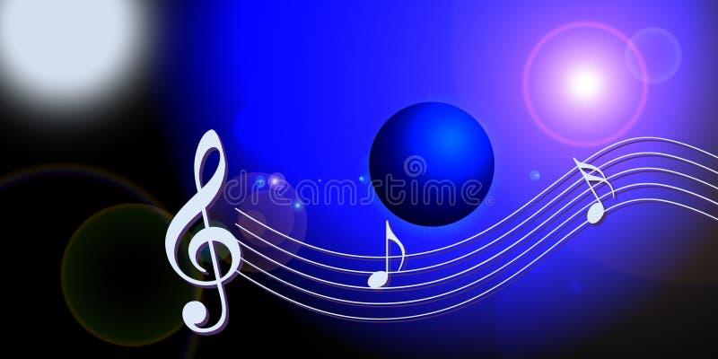 Mundo de la música del Internet libre illustration