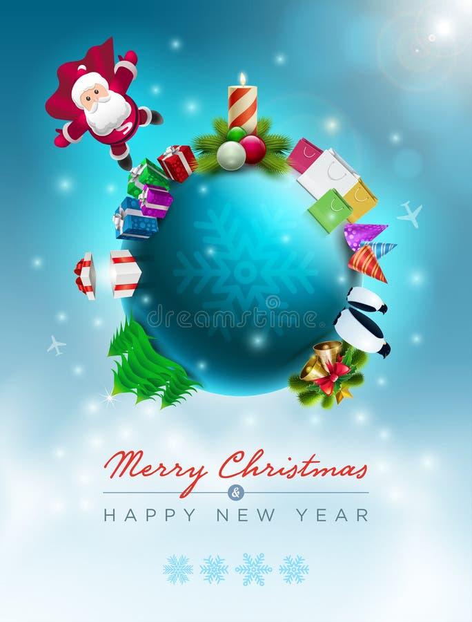 Mundo de la Navidad ilustración del vector