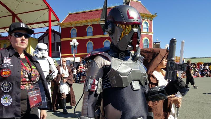 Mundo de la película de Star Wars imagenes de archivo