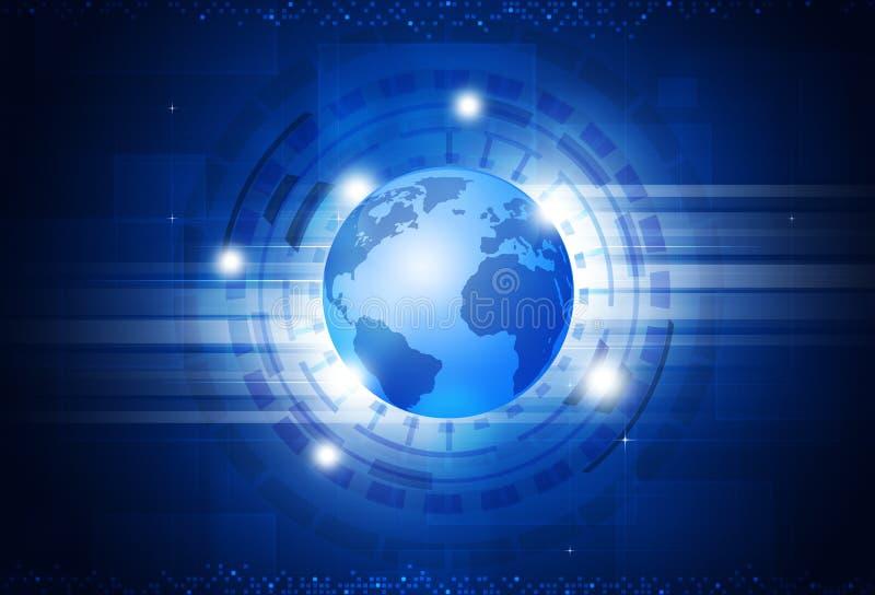 Mundo de la tecnología de Digitaces libre illustration