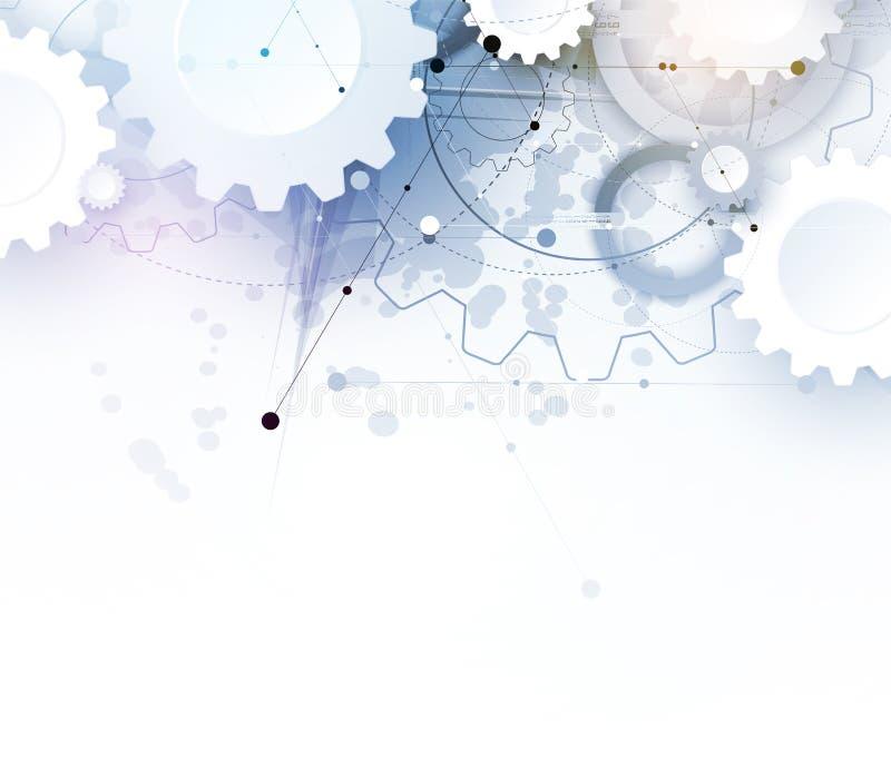 Mundo de la tecnología de Digitaces Medios del negocio y concepto virtual Backg del vector libre illustration