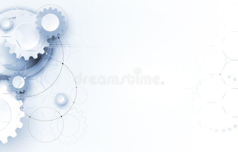 Mundo de la tecnología de Digitaces Medios del negocio y concepto virtual Backg del vector ilustración del vector