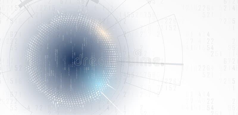 Mundo de la tecnología de Digitaces Concepto virtual del negocio Backg del vector libre illustration