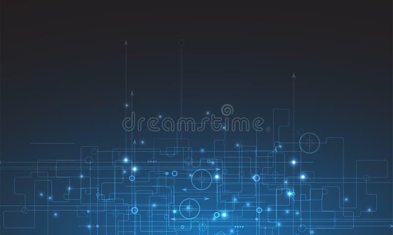 Mundo de la tecnología de Digitaces Concepto virtual del negocio Backg del vector stock de ilustración