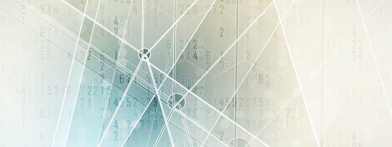 Mundo de la tecnología de Digitaces Concepto virtual del negocio para la presentación Fondo del vector libre illustration