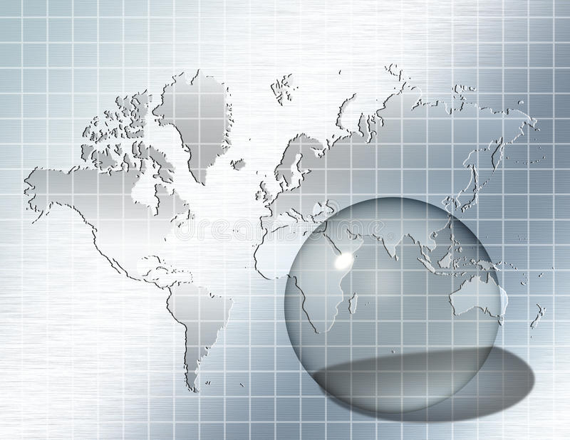 Mundo de vidro da esfera ilustração royalty free