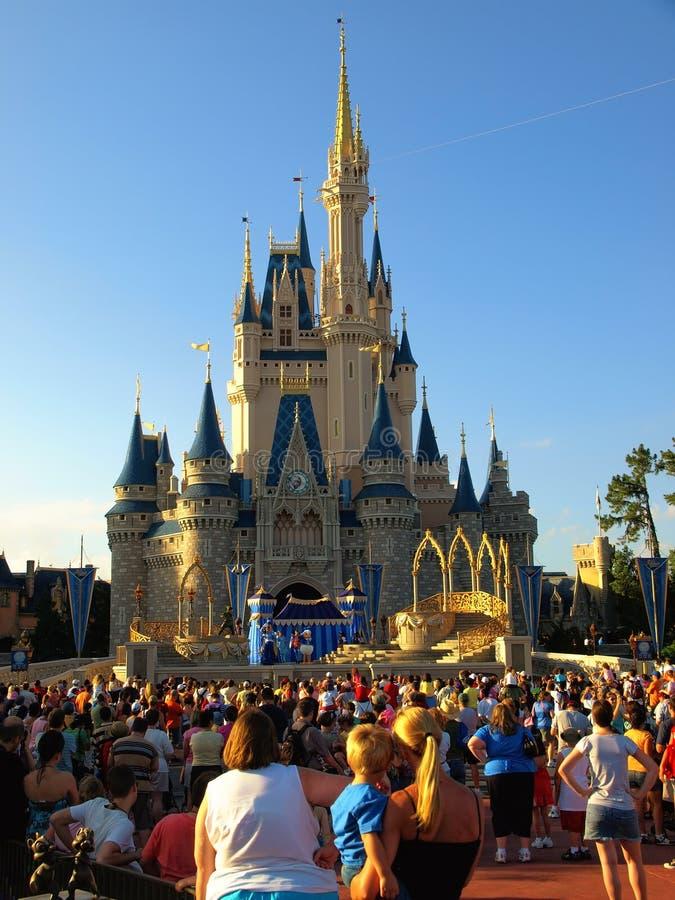 Mundo de Walt Disney del castillo de Disney fotografía de archivo libre de regalías