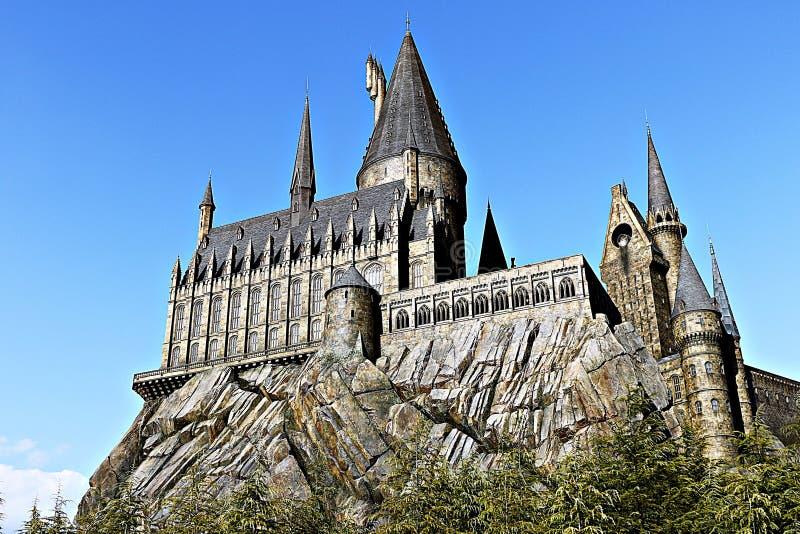 Mundo de Wizarding de Harry Potter em estúdios universais Japão imagem de stock