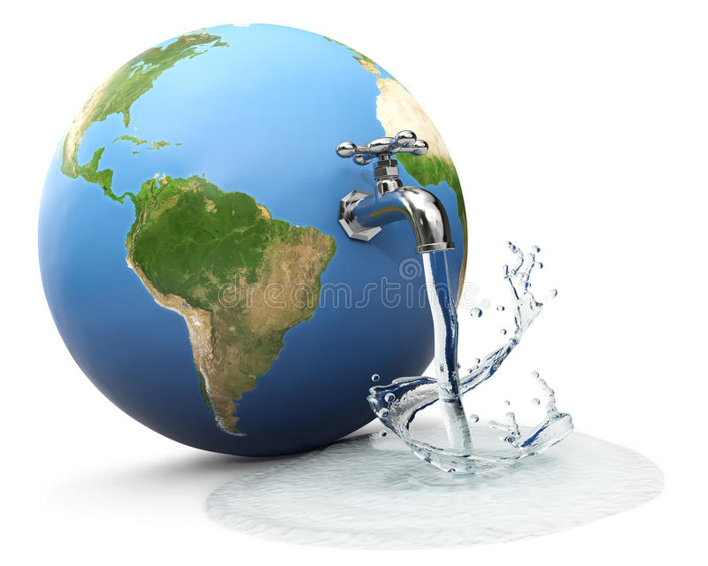 Mundo del agua stock de ilustración