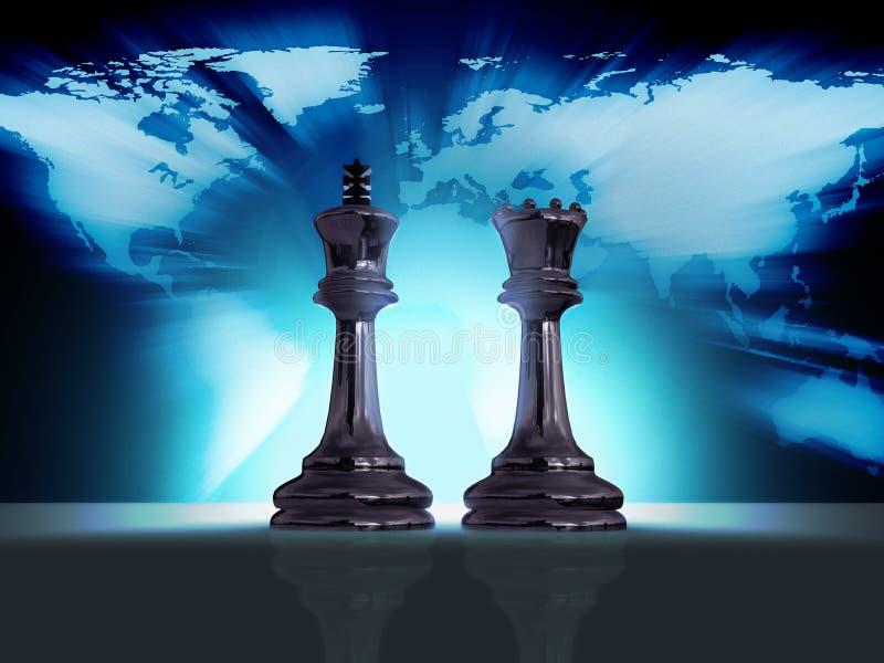 mundo del ajedrez stock de ilustración