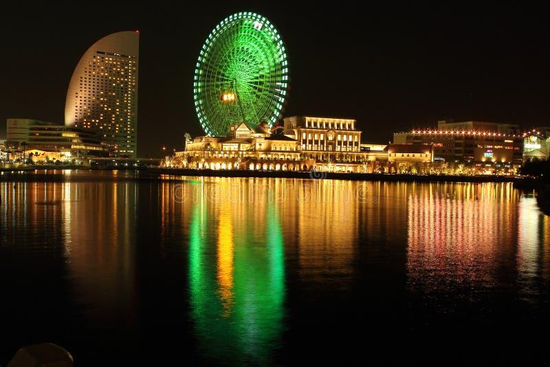 Mundo del cosmo del minatomirai de Yokohama imagen de archivo