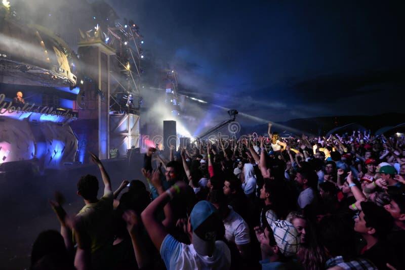 Mundo del festival de música de las maravillas imagen de archivo libre de regalías