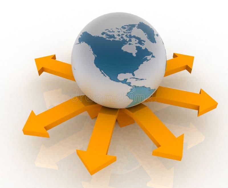 Mundo del globo ilustración del vector