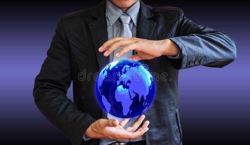 Mundo del hombre de negocios imagenes de archivo