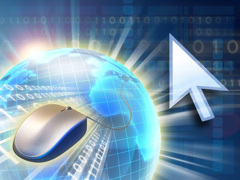 Mundo del Internet ilustración del vector
