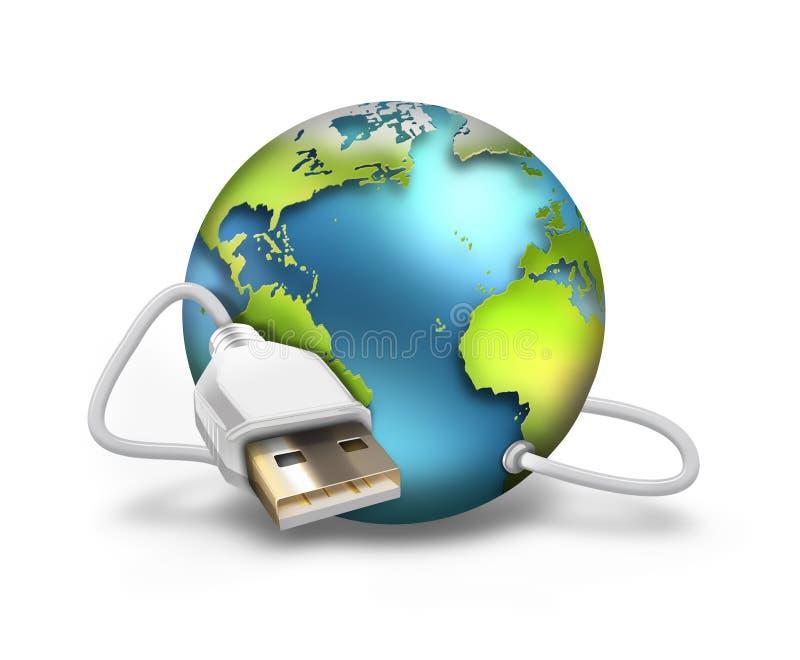 Mundo del USB stock de ilustración