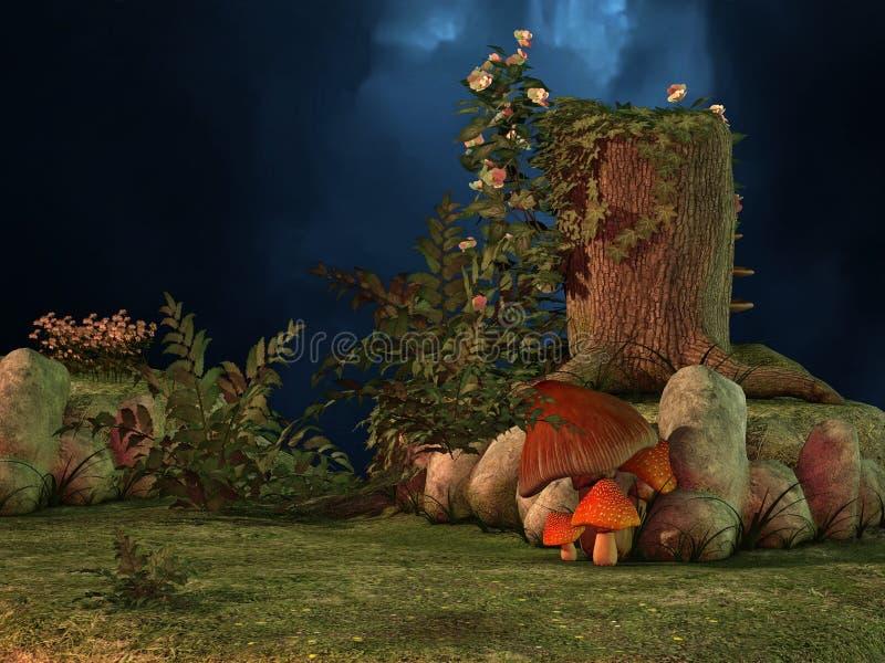 Mundo do cogumelo ilustração stock