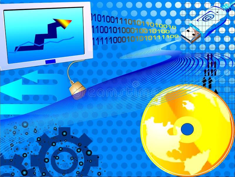 Mundo do comércio electrónico ilustração royalty free